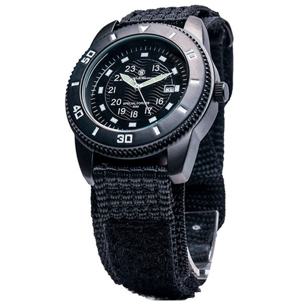 Clearance Price - Latest Black Smith & Wesson Military Tactical Commando Watch