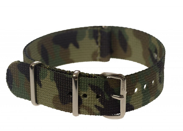 20mm Temperate Climate Camouflage NATO Military Watch Strap