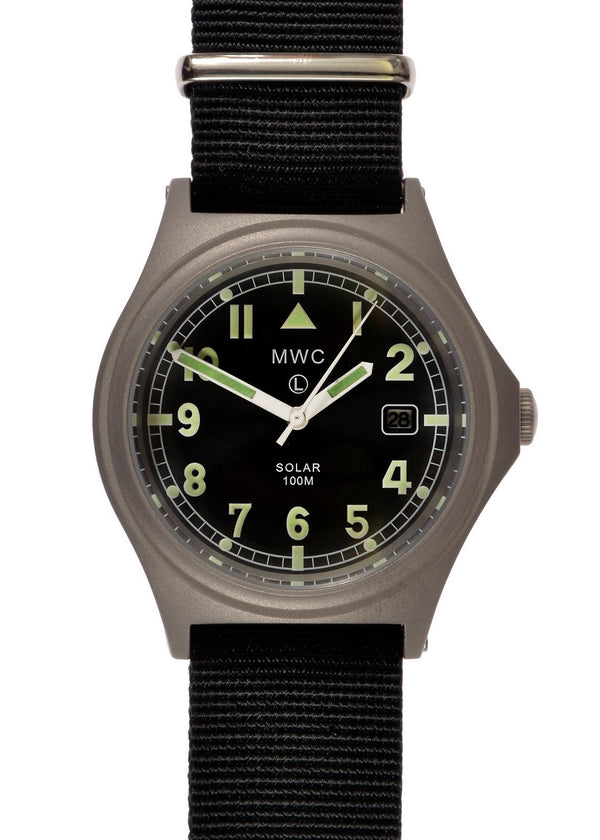 MWC G10 100m Hybrid Powered Titanium Military Watch with Super Luminova (Needs a Capacitor Swap)