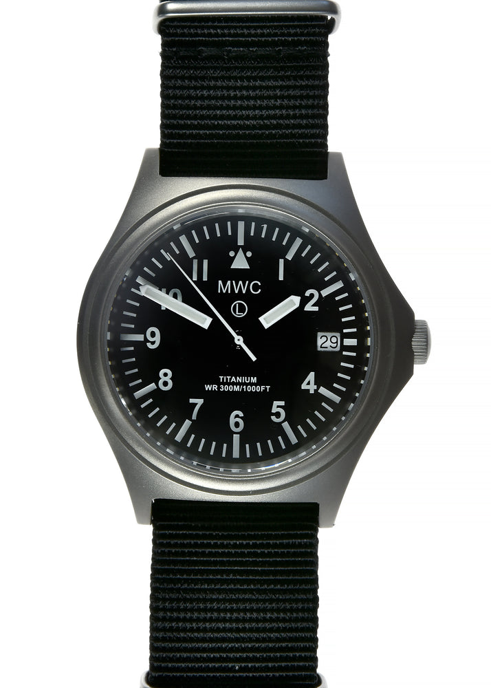 MWC 45th Anniversary Limited Edition Titanium Military Watch, 300m Water Resistant, 10 Year Battery Life, Luminova and Sapphire Crystal - Ex Display Watch