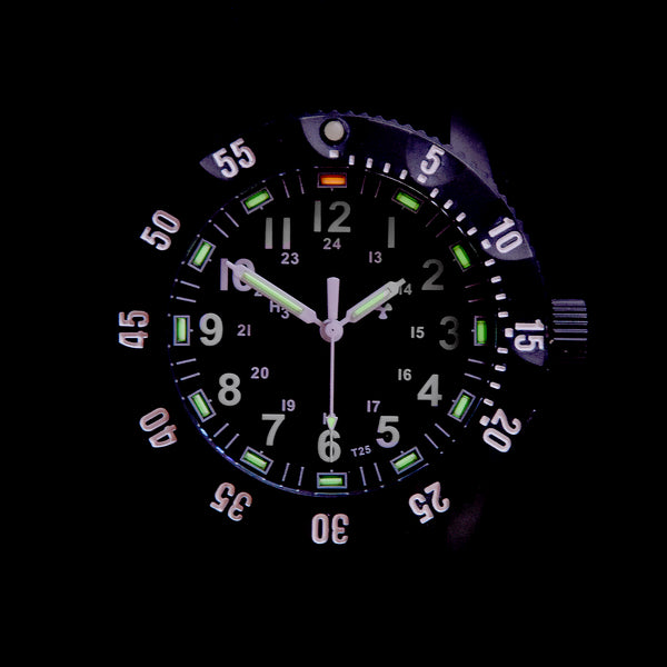 MWC P656 Titanium Tactical Series Watch with GTLS Tritium with Ten Year Battery Life (Non Date Version)