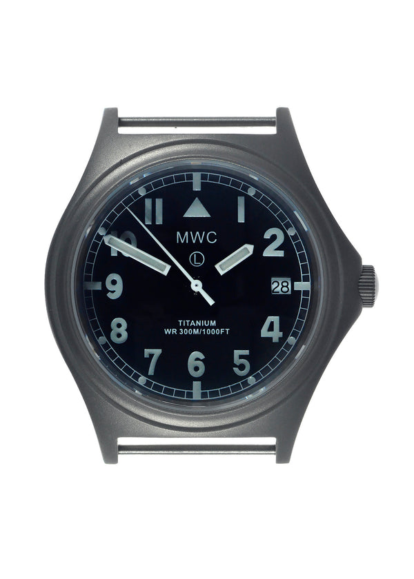 MWC Titanium General Service Watch, 300m Water Resistant, 10 Year Battery Life, Luminova, Sapphire Crystal and 12 Dial Format (Date Version) - Save 50% Ex Display Watch from a Trade Show
