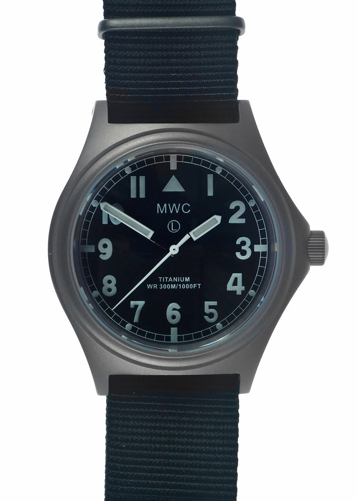 MWC Titanium General Service Watch, 300m Water Resistant, 10 Year Battery Life, Luminova, Sapphire Crystal and 12 Dial Format (Non Date Version) Save 50% Ex Display Watch From a Trade Show