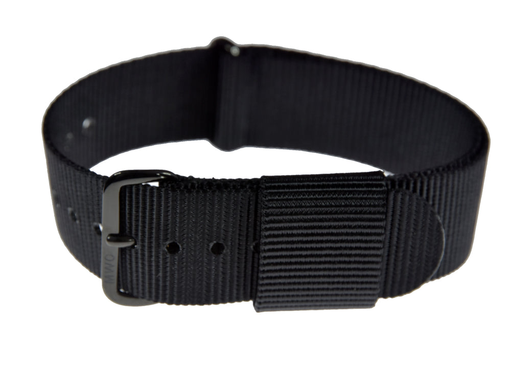 18mm US Pattern Black Military Watch Strap