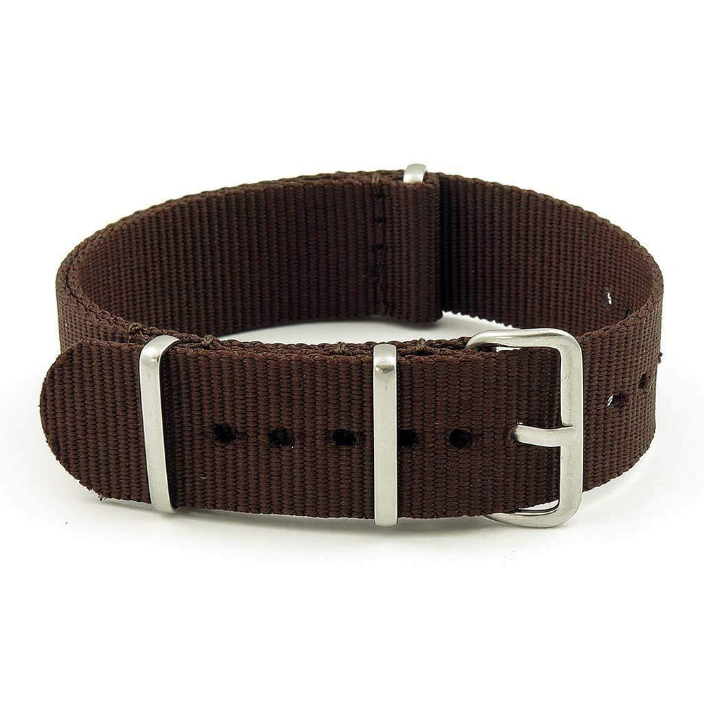 "18mm ""Dark Brown"" NATO Military Watch Strap"