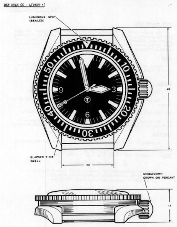 Very Rare MWC 1999-2001 Pattern Quartz Military Divers Watch / Brand New & Unissued