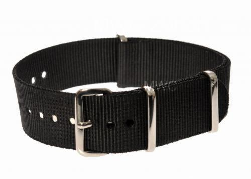 22mm Black NATO Military Watch Strap