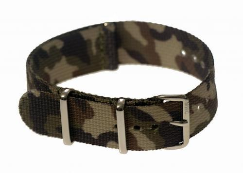 "20mm ""Mediterranean / Desert"" Camo NATO Military Watch Strap"