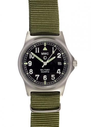 MWC G10 LM Stainless Steel Military Watch (Olive Strap) - Ex Demo Watch from a Trade Show