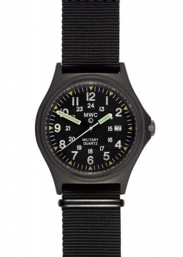 MWC G10BH PVD 12/24 50m Water Resistant Military Watch