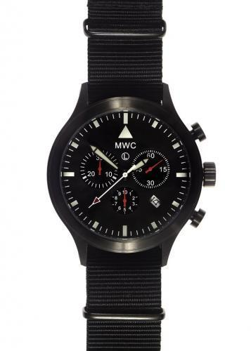 MWC MIL-TEC MKIV PVD Stainless Steel Military Pilots Chronograph - MIGHT NEED A BATTERY REPLACEMENT