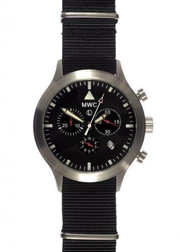 MWC MIL-TEC MKIV Stainless Steel Military Pilots Chronograph - MIGHT NEED A BATTERY REPLACEMENT