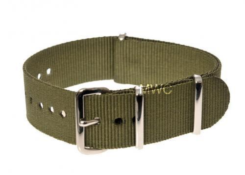 22mm Olive NATO Military Watch Strap