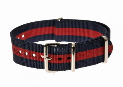 20mm Red and Navy NATO Military Watch Strap