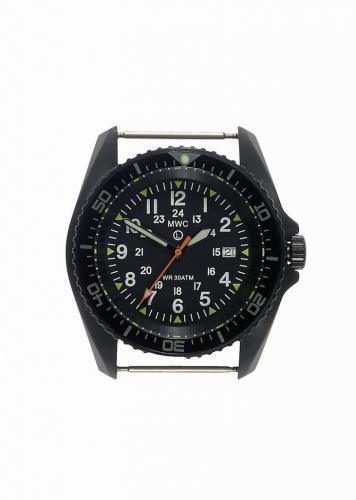 MWC 12/24 Military Divers Watch in PVD Steel Case (Quartz) - Running But Needs Attention to Crown