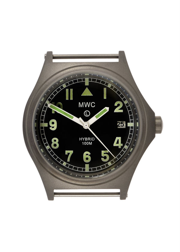 MWC G10 100m Hybrid Powered Titanium Military Watch with Super Luminova (Tested and Runs but Might Need a Capacitor Swap Soon)