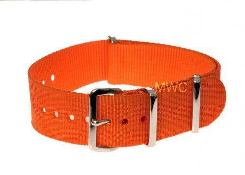 "22mm Orange ""High Visibility"" SAR NATO Military Watch Strap"