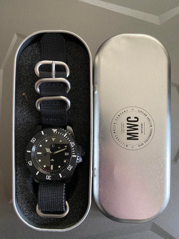 MWC Non Reflective PVD 300m Automatic Military Divers Watch - Ex Demo Watch - Excellent Condition and Running