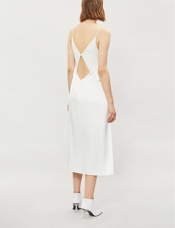 Tessellate Crepe Slip Dress