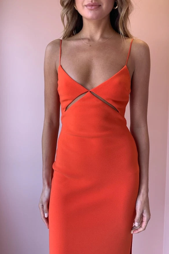 Ulla Cut Out Midi (Blood Orange)