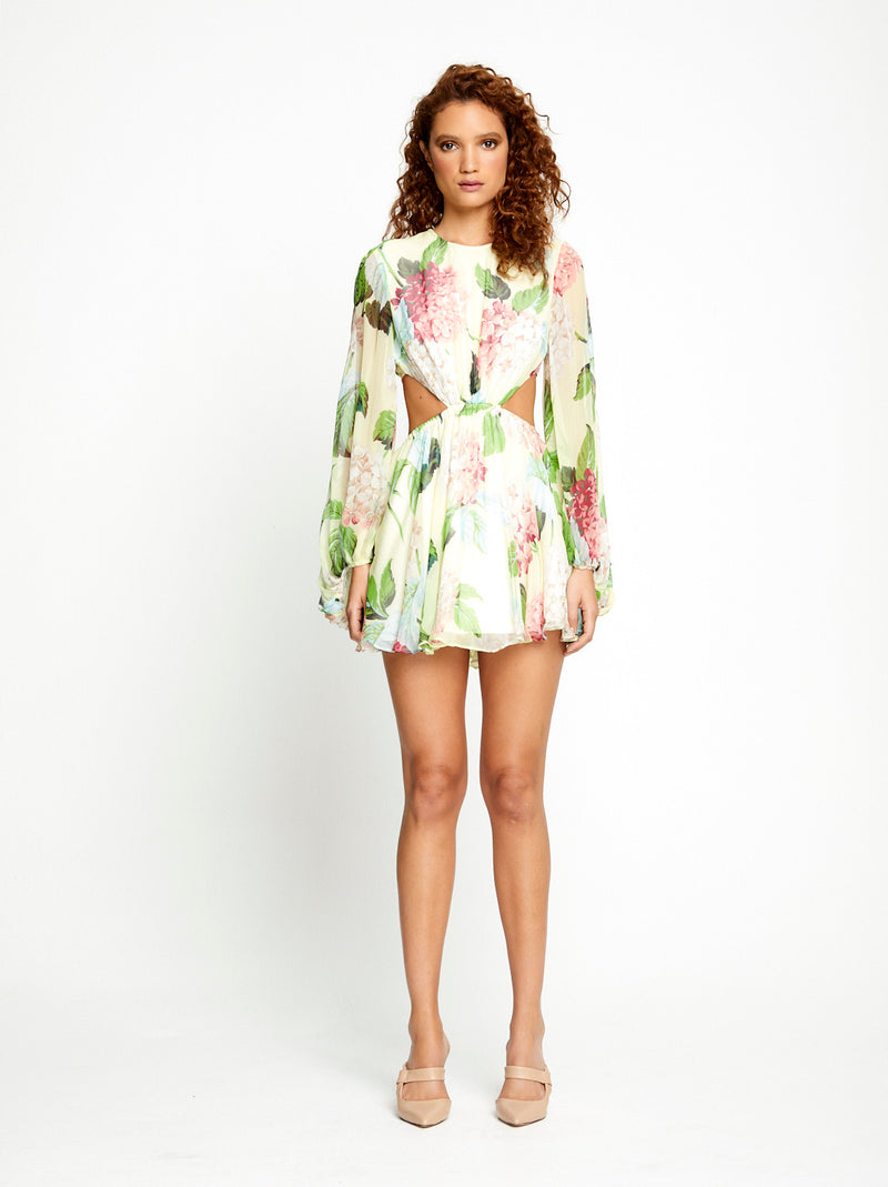 Wild Mini Dress (Lemon)