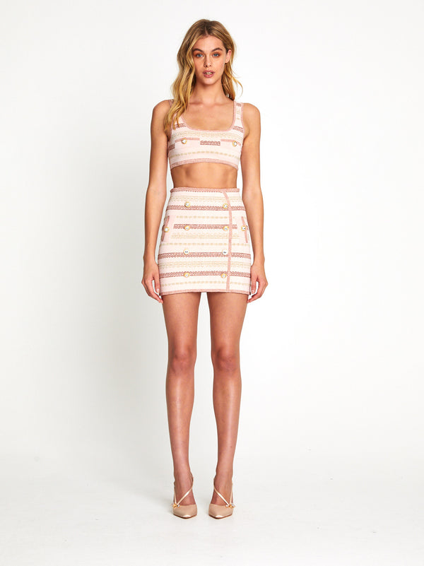 Black Magic Skirt Set (Blush)