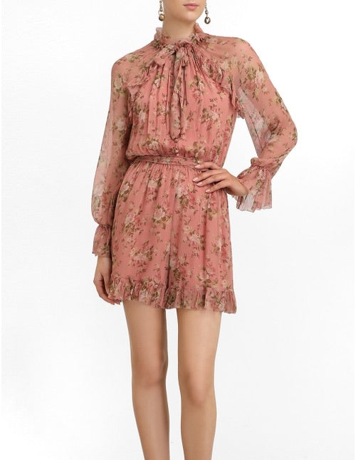 Espionage Frilled Playsuit