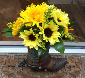 Sunflowers & Sunshine  Boot