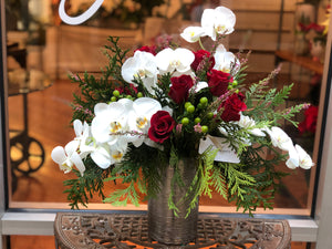 Valentine's Red Roses & Orchids