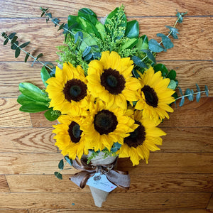 The Lily Wrap - Sunflower Bouquet
