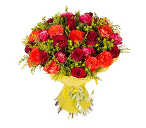 Valentine's Mixed Red Roses Bouquet