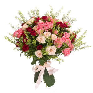 Lily Palmer Antique Pink & Red Bouquet