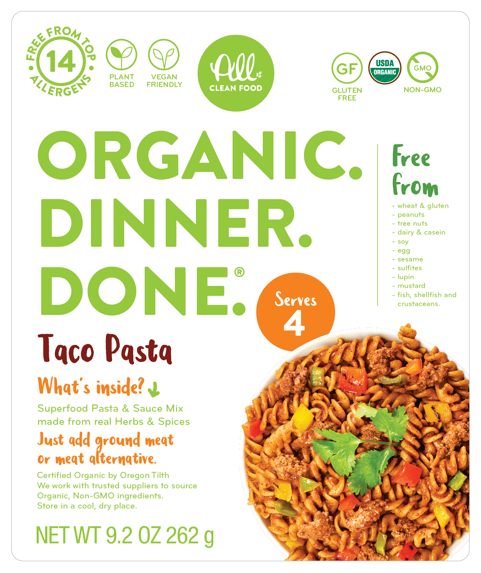 Taco Pasta - (2-pack or 6-pack)