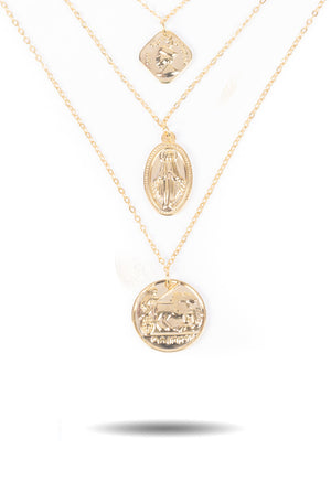 Layered Ancient Coin Necklace