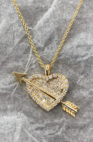 Diamond Heart Necklace by Danielle Cohn