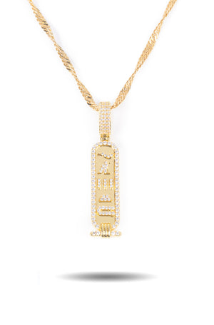 Diamond Hieroglyph Necklace