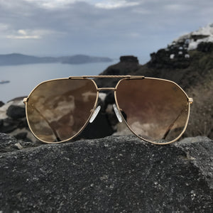 The Escobar Sunglasses in Brown Gradient
