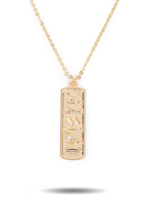 Gold Hieroglyph Necklace