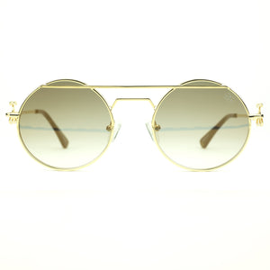 The Luminaries Sunglasses in Brown Gradient