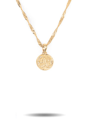 Micro Zeus Ancient Coin Necklace