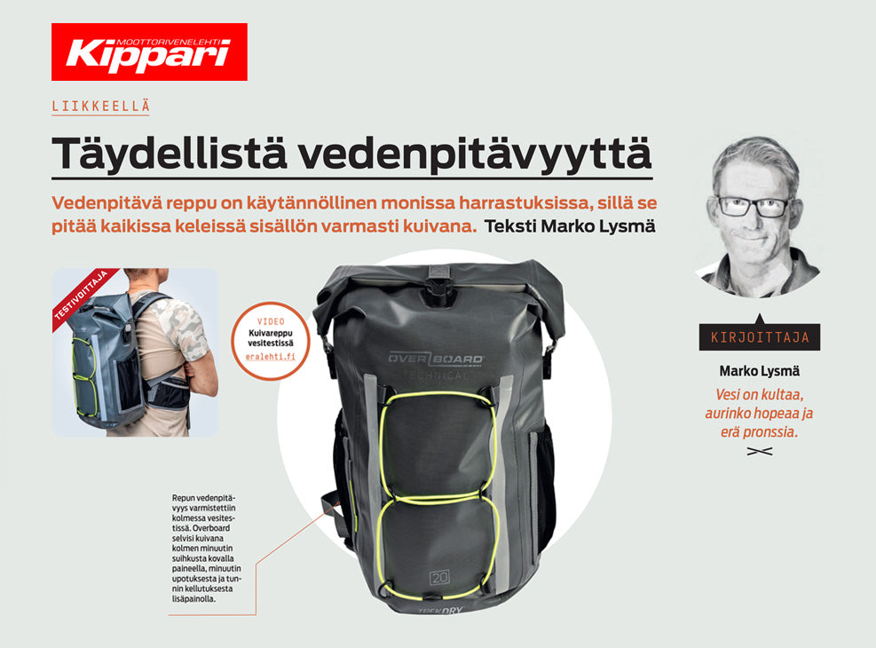 Kippari Magazine – TrekDry Backpack Reviewed (June 2019)