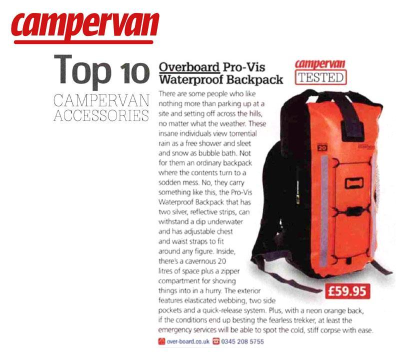 Campervan Magazine – Top 10 Accessories