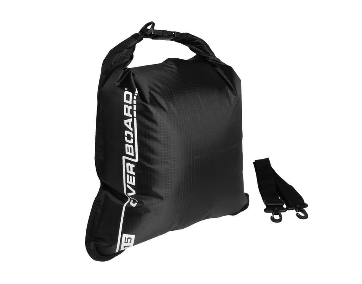 OverBoard Waterproof Dry Flat Bag - 15 Litres | OB1004BLK