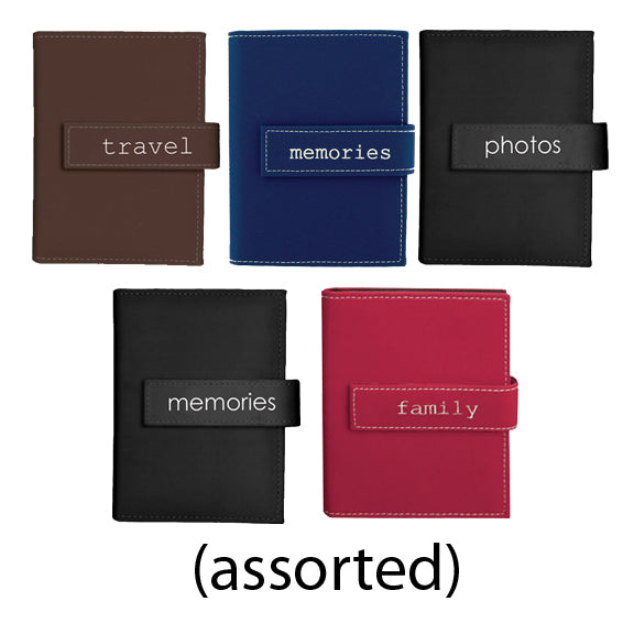 5X7 ASSORTED PHOTO ALBUMS HOLDS 36