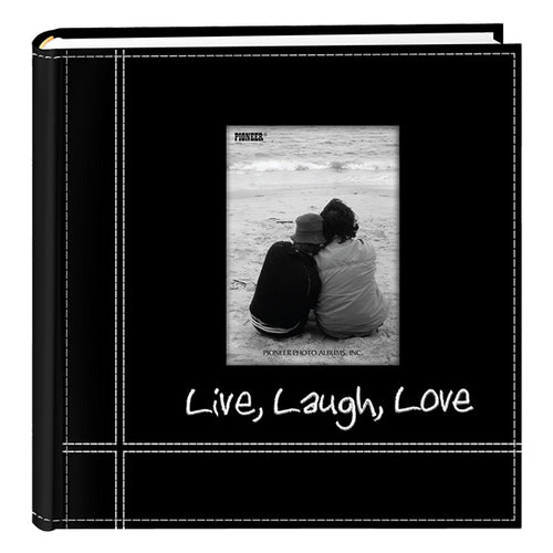 LIVE LAUGH LOVE BLACK 4X6 BLACK ALBUM