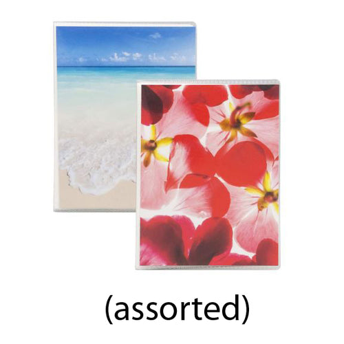 ASSORTED(BEACH/FLOWER) PHOTO ALBUM HOLDS 36