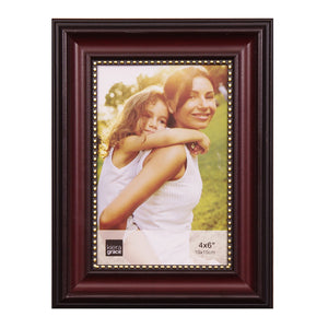 4X6 ROSEWOOD  WITH GOLD BUMPS FRAME