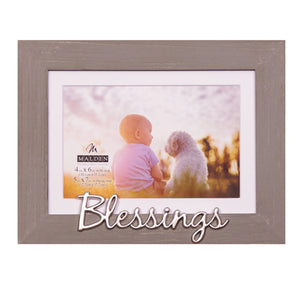 "4X6(5X7) ""BLESSING"" GRAY WORD FRAME"