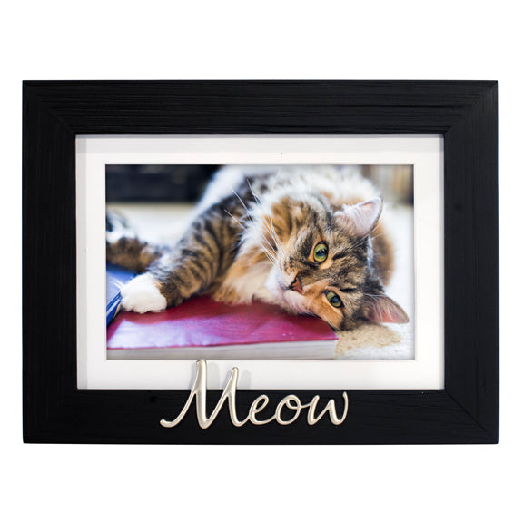 5X7 (4X6) MEOW MATTED BLACK FRAME