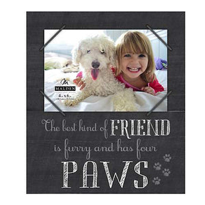 "4X6 ""THE BEST KIND OF FRIEND IS FURRY AND HAS FOUR PAWS"" BLACK WORD FRAME"